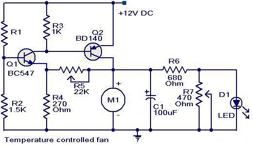 Fun And Education: Speed control Temperature DC fan mini project