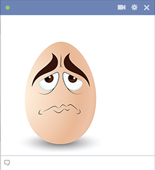 Frown face for Facebook