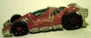 Side view of Spider-Man racing car