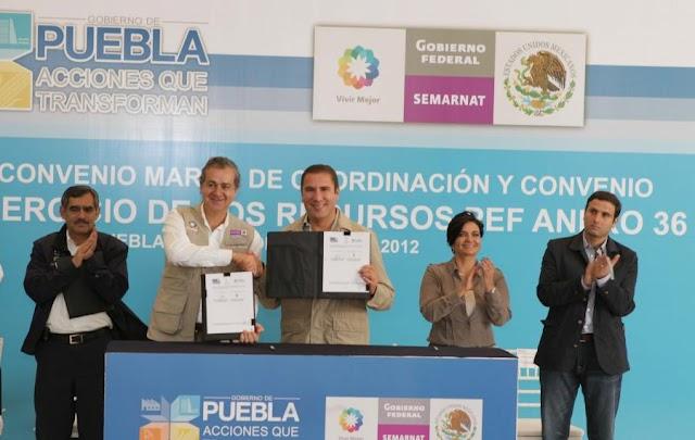 Gobierno Federal firma convenios con Puebla por más de mil 700 mdp