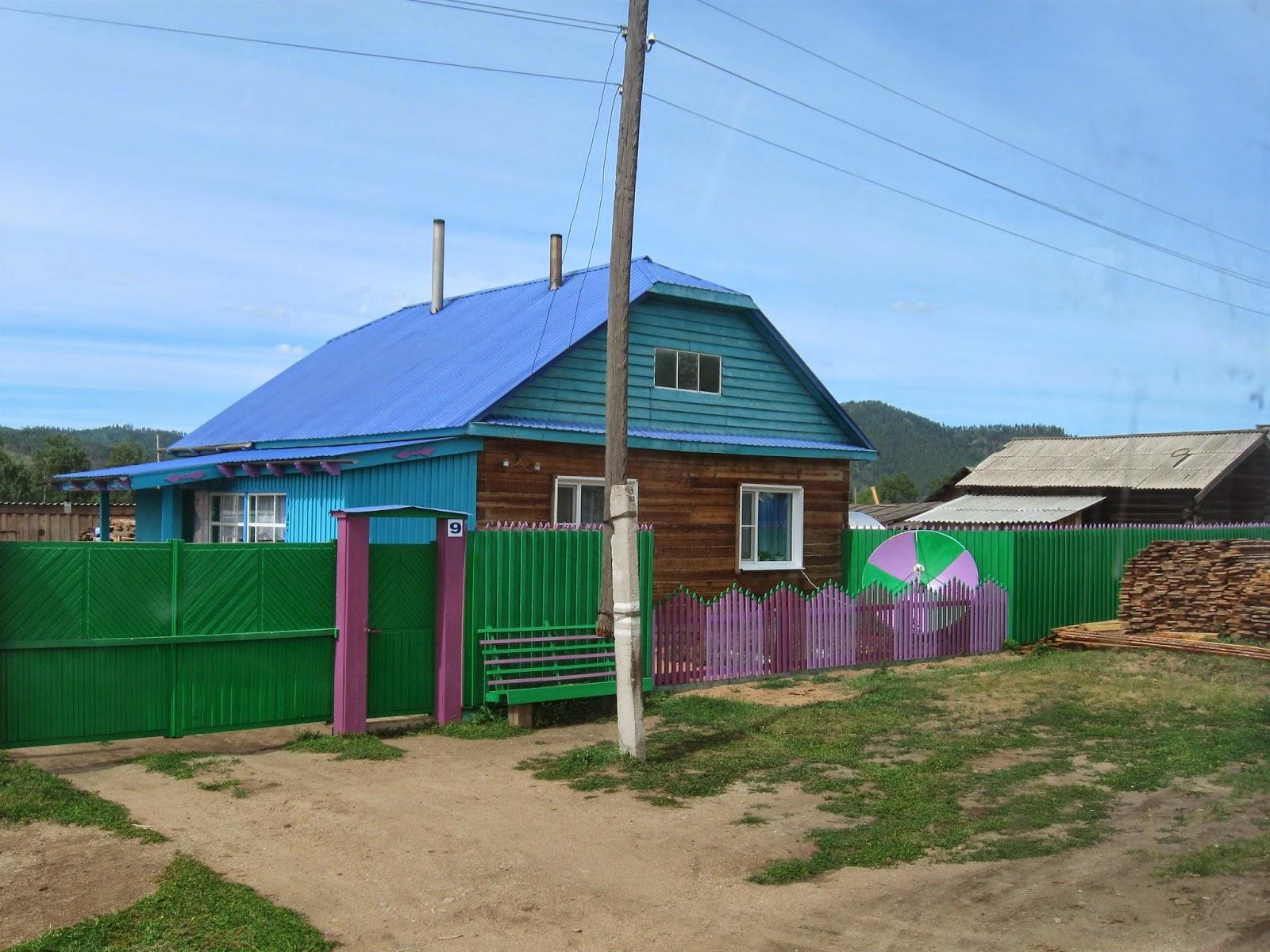 Wunderbar Russisches Holzhaus Foto Von