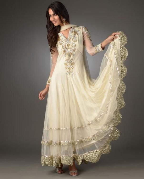 White Indian Wedding Dress
