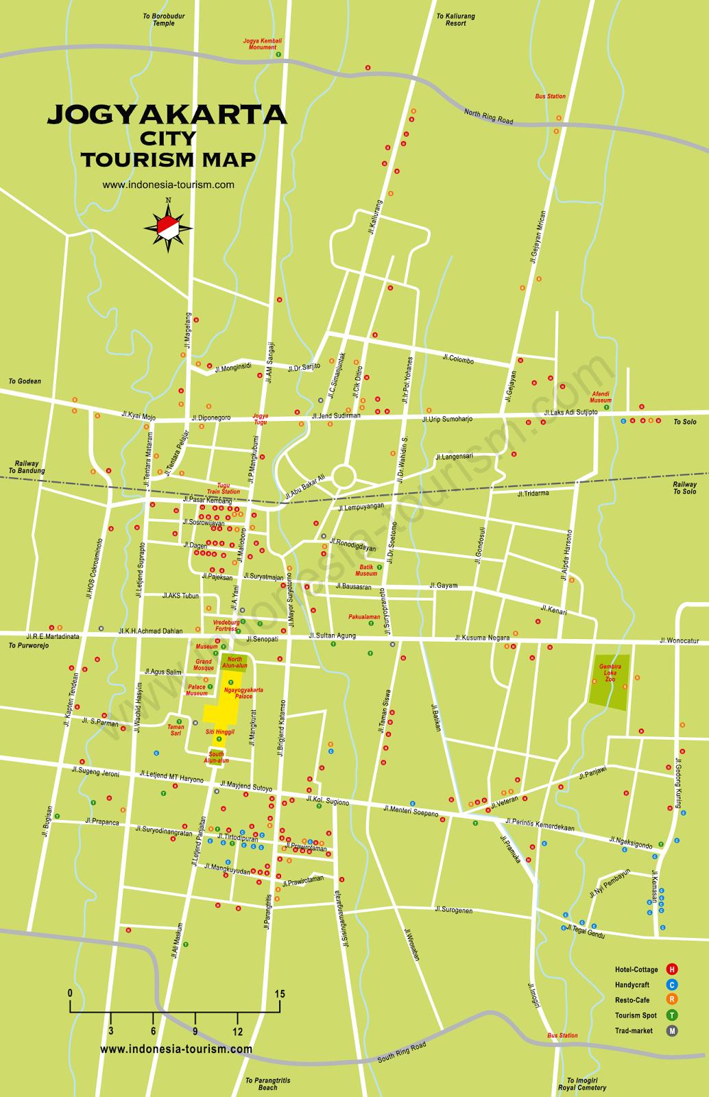 gambar peta jogja kota