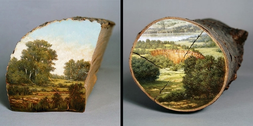 00-Alison-Moritsugu-Landscape-Painting-on-Tree-Logs-www-designstack-co