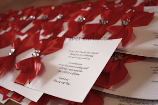 Flower ribbon handmade wedding invitation