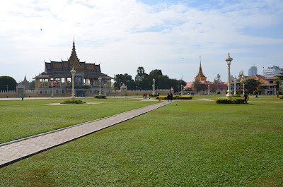 People in park at funeral of King Norodom Sihanouk, Phnom Penh, Cambodia