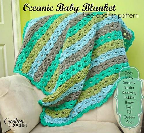 free crochet pattern oceanic blanket