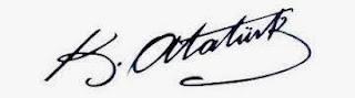 Mustafa Kemal Atatürk'ün imzası