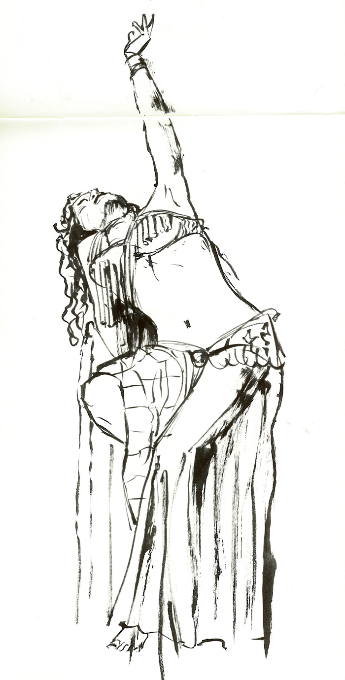 Gallery For gt Sketches Of Belly Dancers