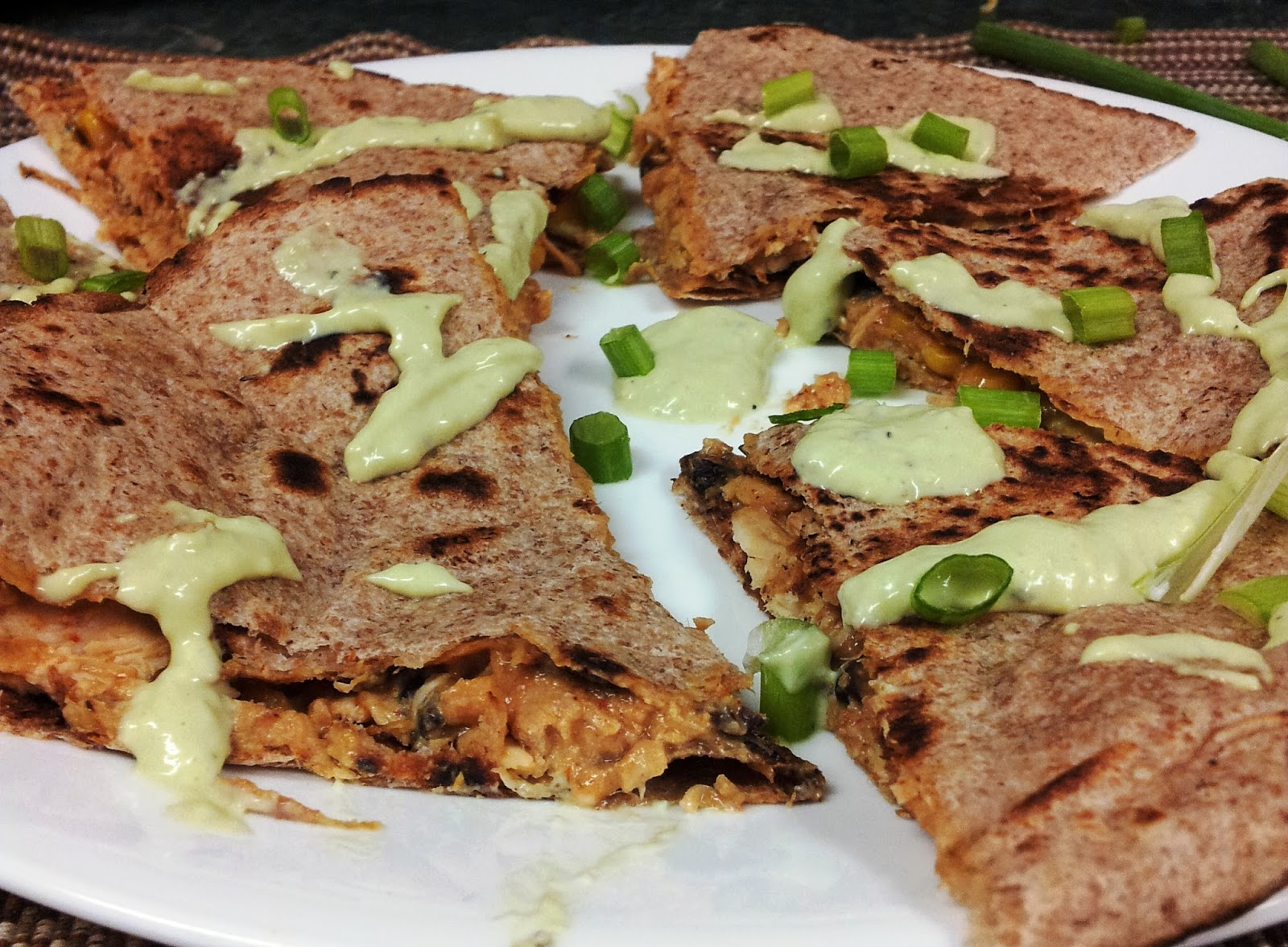 Debbi Does Dinner... Healthy & Low Calorie: Fiesta Chicken Quesadillas