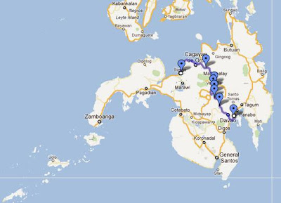 Davao-Iligan City map | Travel Jams