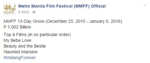 MMFF box-office update