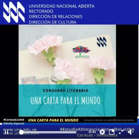 """Concurso Literario """"Una Carta al Mundo"""""""
