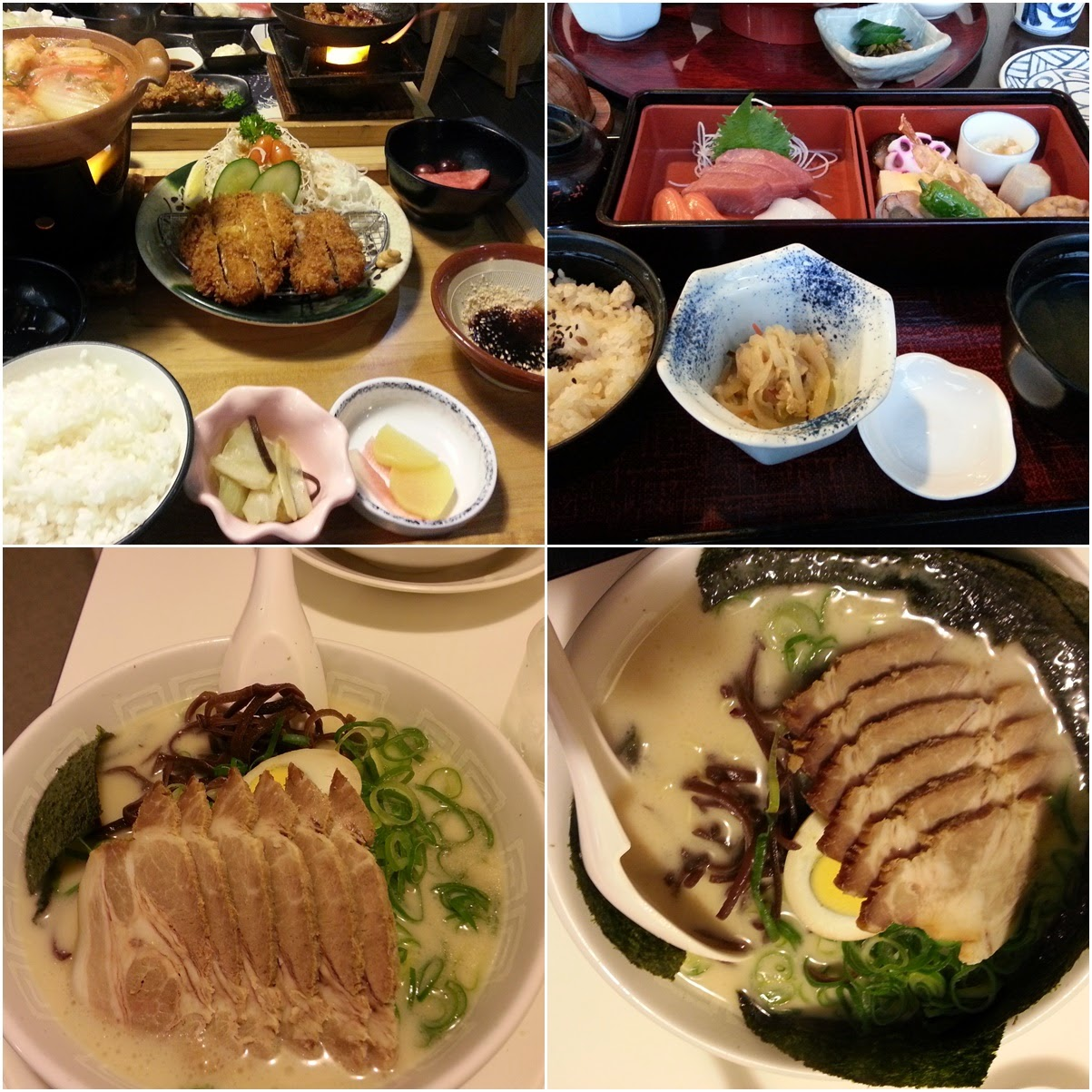 The portion of Japanese ramen and set meal are generous and the prices are reasonable too in Japan