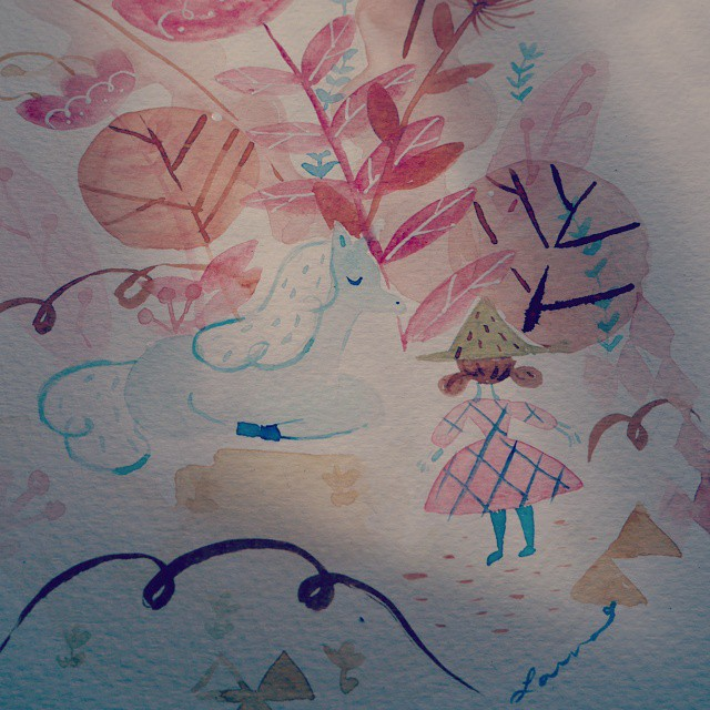 illustration, ilustración, cat, watercolors, acuarelas
