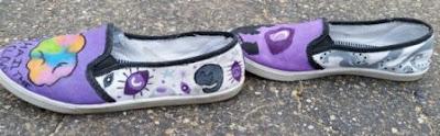 tutorial cara melukis di sepatu