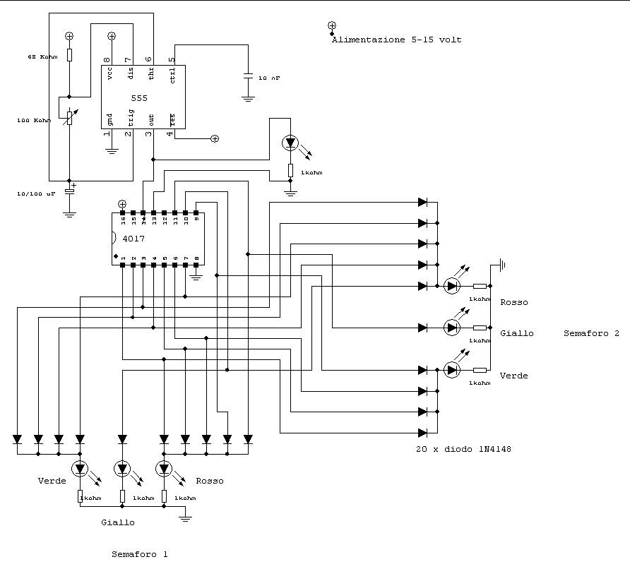 Schema Elettrico Per Semaforo : Pz lezioni ed esercizi online simulatore di semaforo per