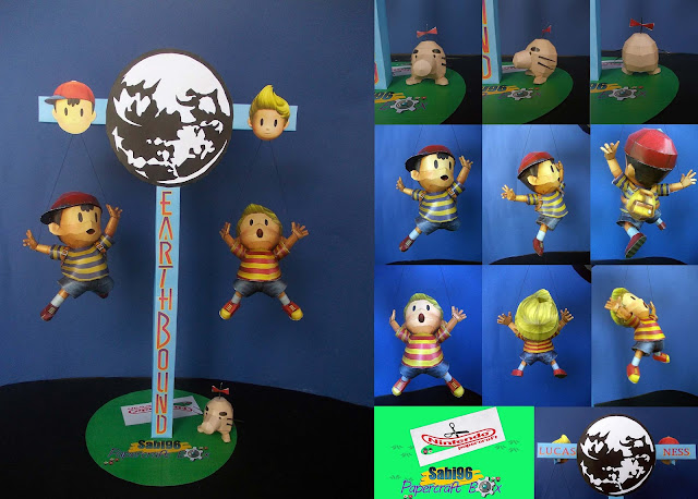 Nintendo Papercraft Contest Entry – Ness, Lucas & Mr. Saturn