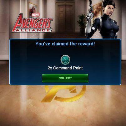 reclamar puntos de comando gratis marvel avengers alliance puntos de