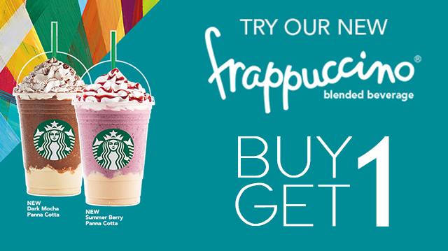 Starbucks Frappuccino® and Friends Promo Buy 1 Get 1 Promo