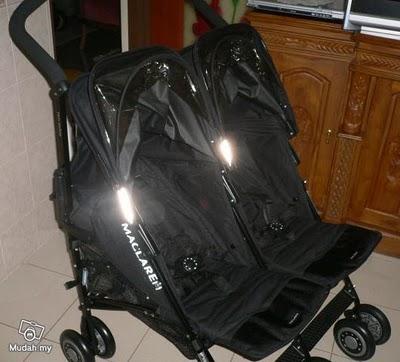 babyboutique2u sale new maclaren techno twin black on black frame. Black Bedroom Furniture Sets. Home Design Ideas