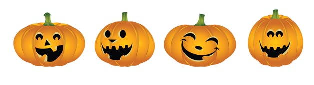 Officina del make up halloween masks for Zucca di halloween disegno