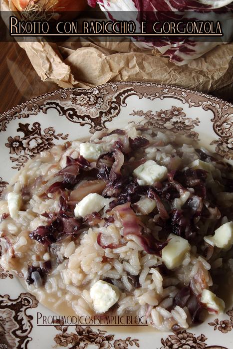 risotto al radicchio rosso di verona e gorgonzola