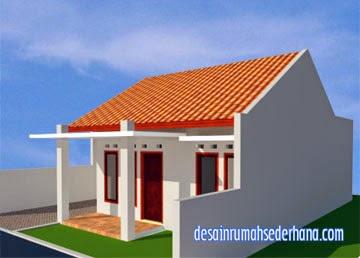 Gambar Desain Rumah Minimalis Type 45 - Sudut kanan