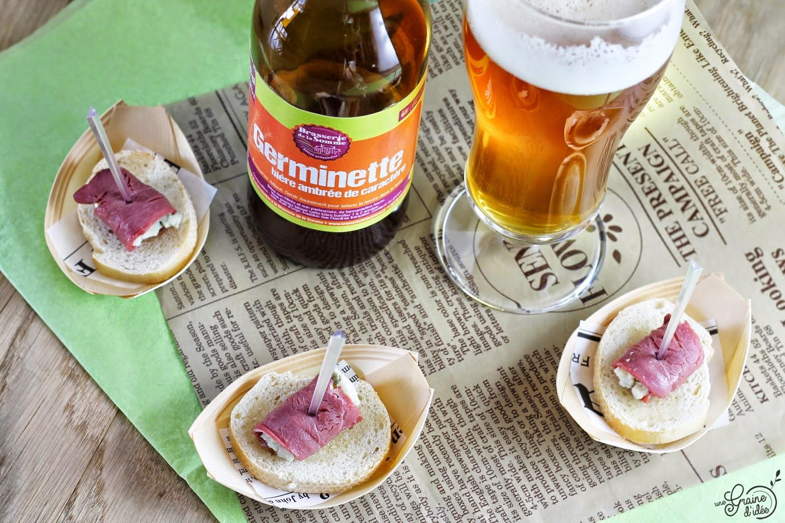 Croûtons au Miel et Roulé de Magret de Canard séché au Roquefort - Une Graine d'Idée