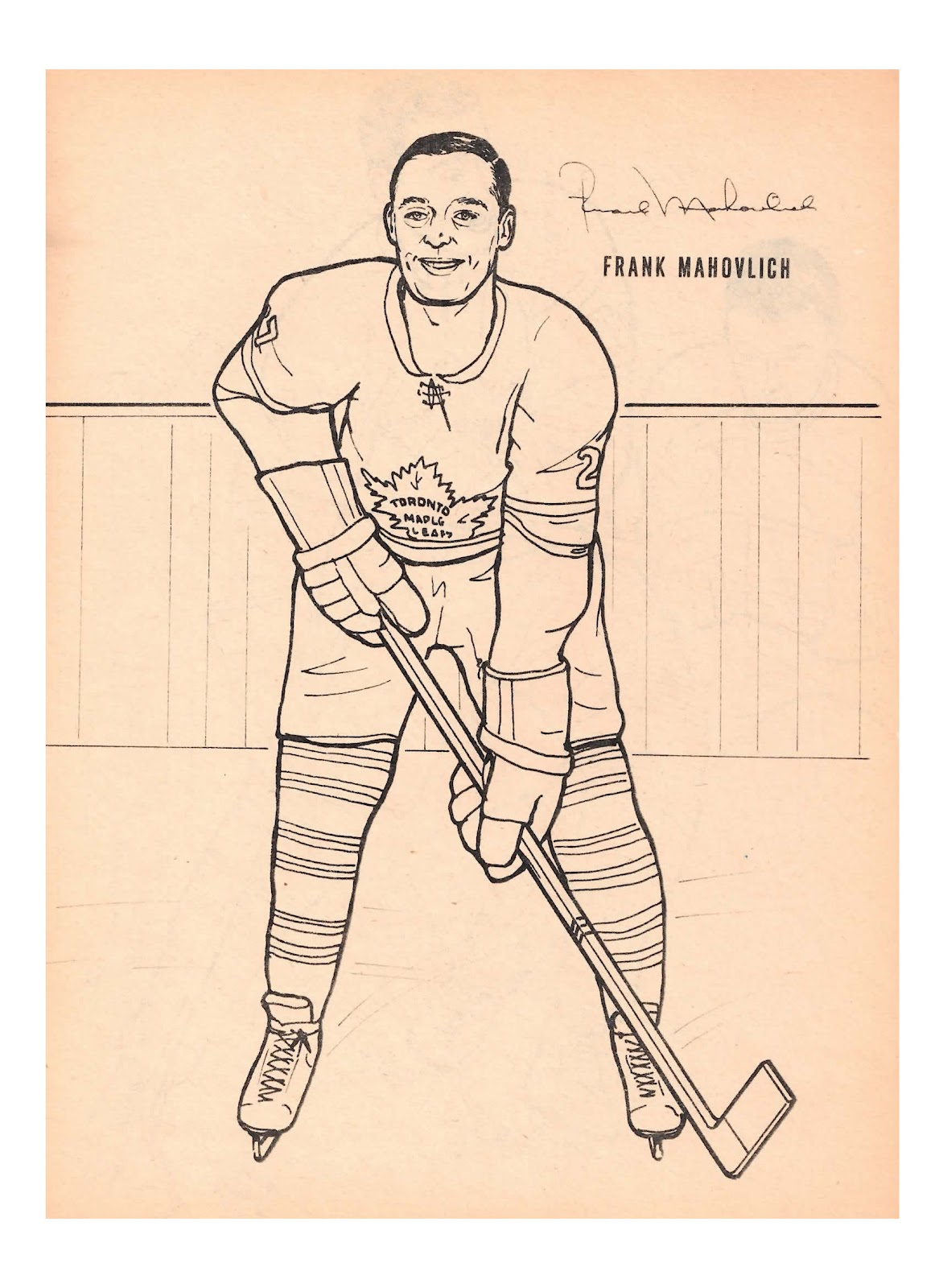 nitzy u0027s hockey den maple leafs 1964 colouring book