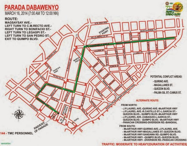 Araw ng Davao, Davao Delights, Davao City, Festival Activities, Traffic Advisory