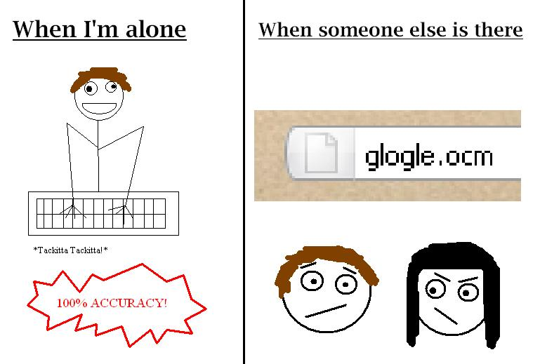 When I'm Alone 100 Percent Accuracy! - When Someone Else is There