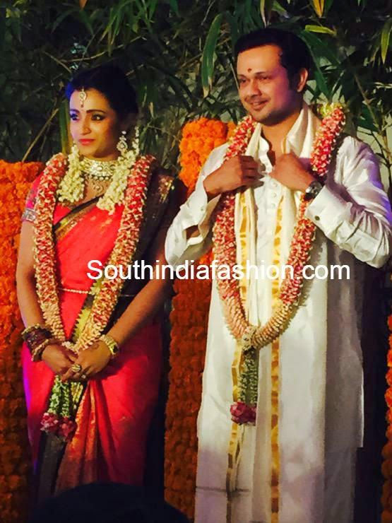 trisha krishnan varun manian engagement photos