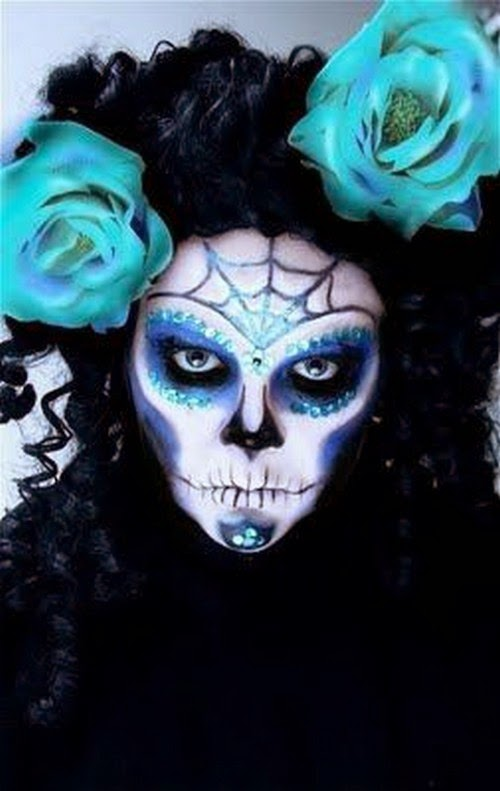 how to paint sugar skull makeup for halloween