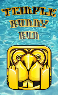 Screenshots of the Temple bunny run for Android tablet, phone.