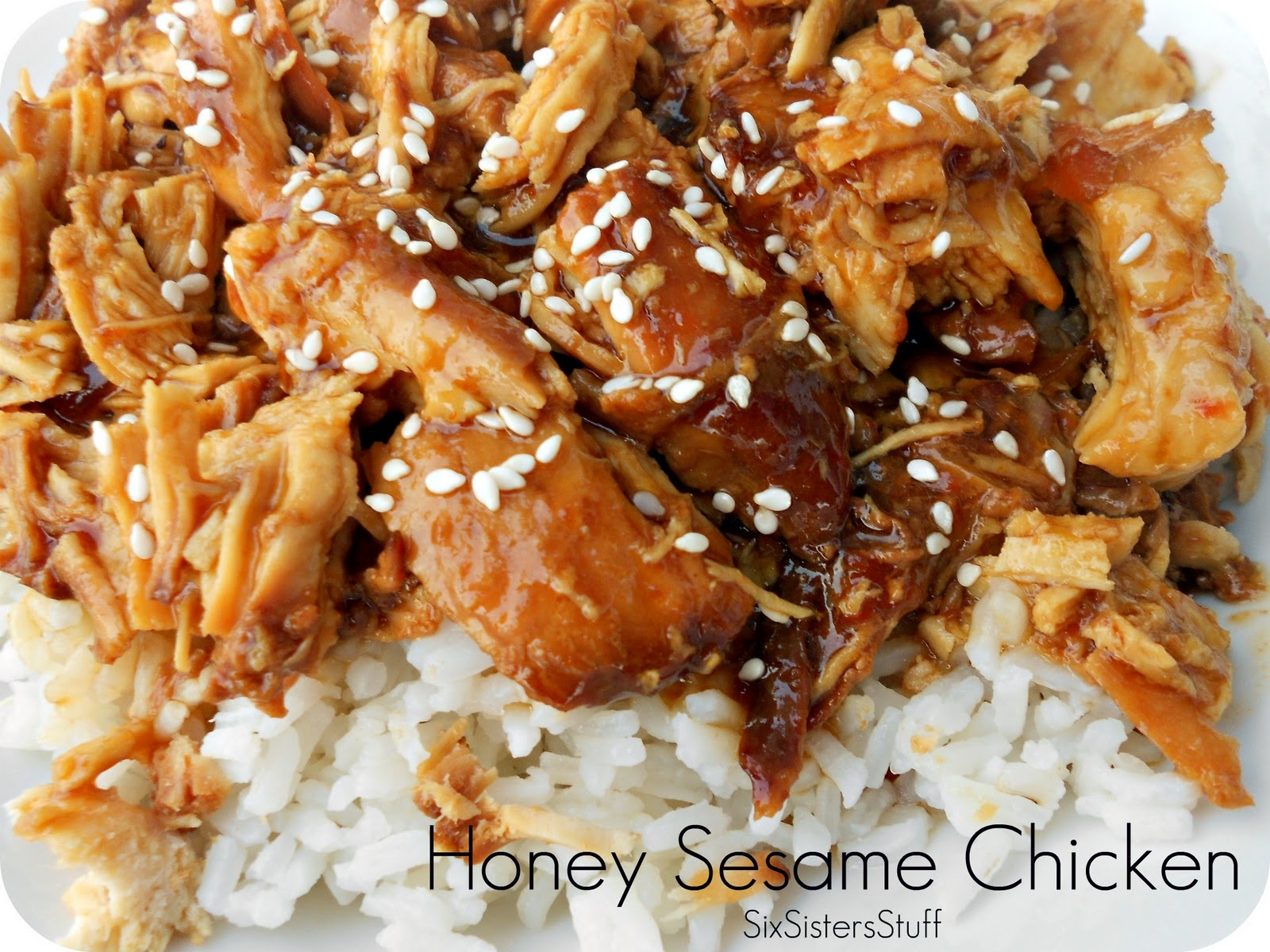 Slow Cooker Honey Sesame Chicken | Six Sisters' Stuff