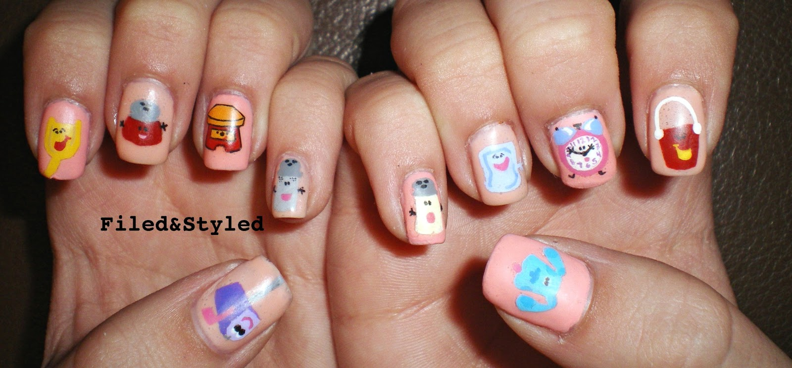 blues clues nails