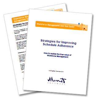 Call center workforce management schedule adherence strategy whitepaper