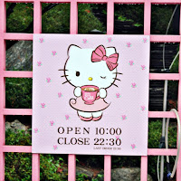 You can find Hello Kitty Cafe   at popular shopping streets at Hongdae, Myeongdong and Sinchon  | www.meheartseoul.blogspot.sg
