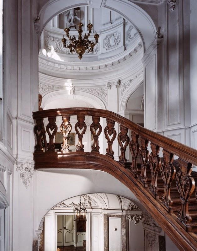 Grand escalier et coupole de l'étage noble