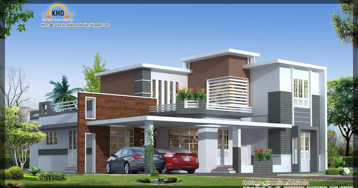 Kerala Home Ground Floor Elevation : Contemporary house elevation sq ft kerala home