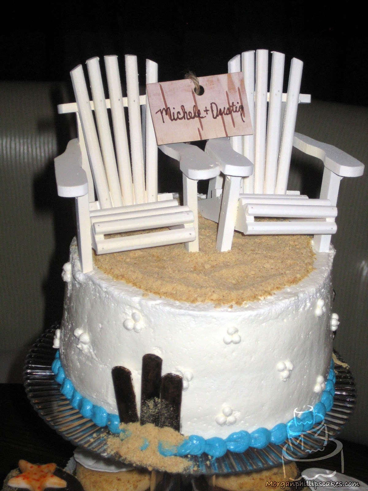 Gallery For Beach Chair Wedding Cake Topper