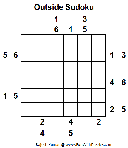 Outside Sudoku (Mini Sudoku Series #13)