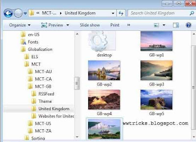 hidden themes in windows 7