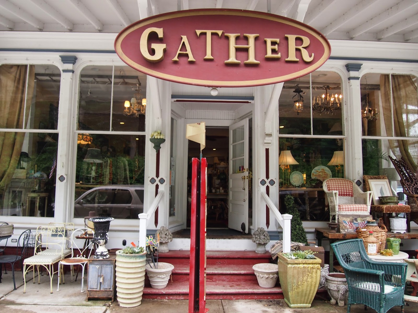 The shop, Gather, in Ivoryton, Connecticut