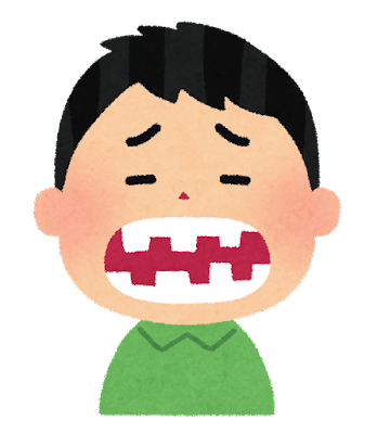 歯並びの悪い人のイラスト