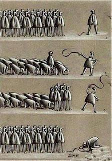 a diferença entre liberdade e ditadura está na nossa atitude