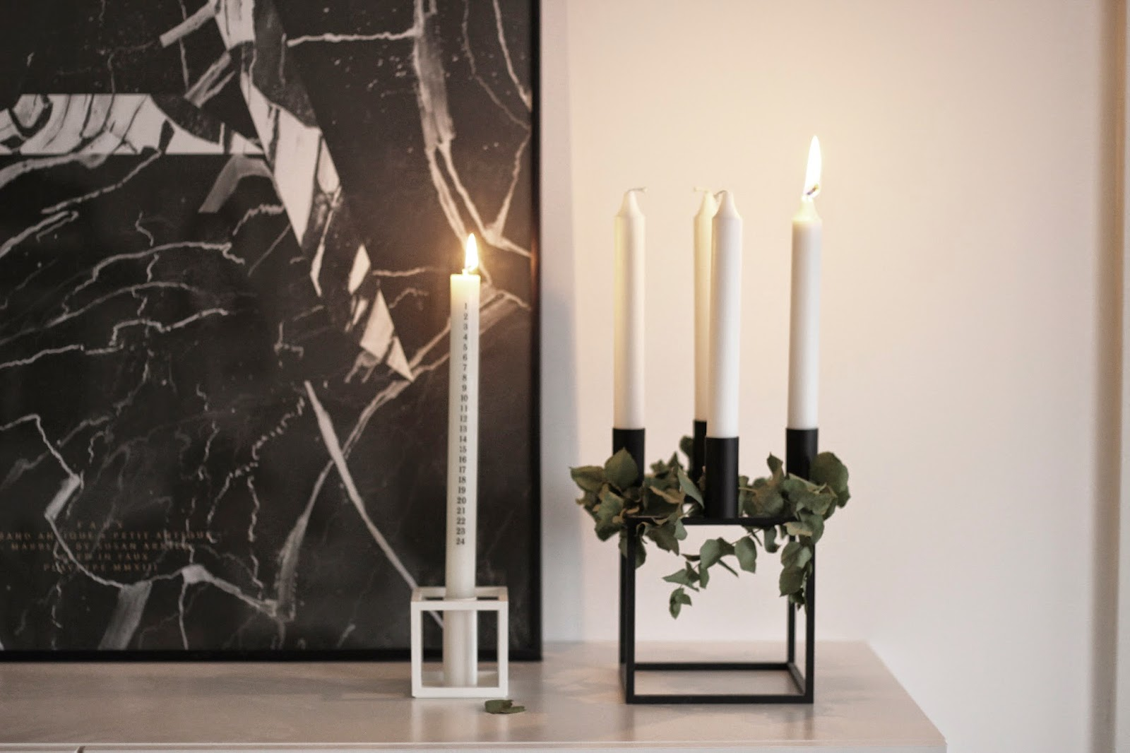 kubus 4 advent decoration, scandinavian christmas, minimalistic christmas via http://www.scandinavianlovesong.com/