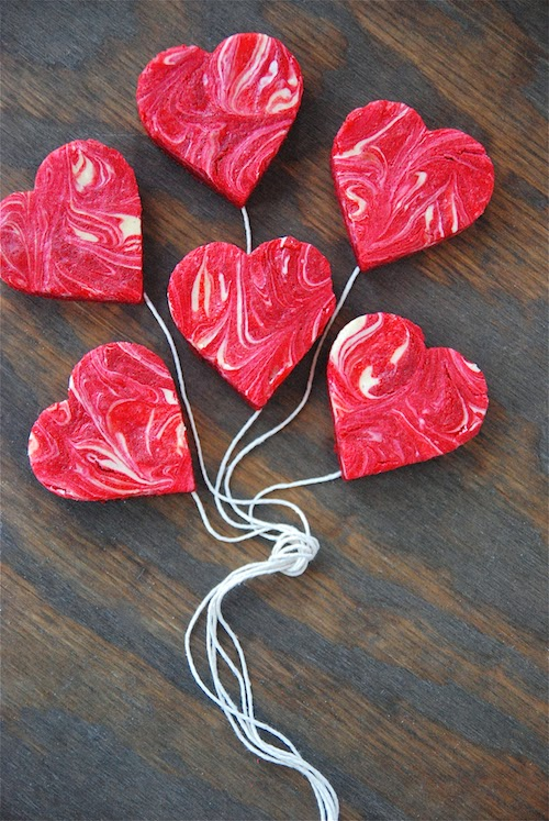 Red Velvet Cheesecake Hearts!