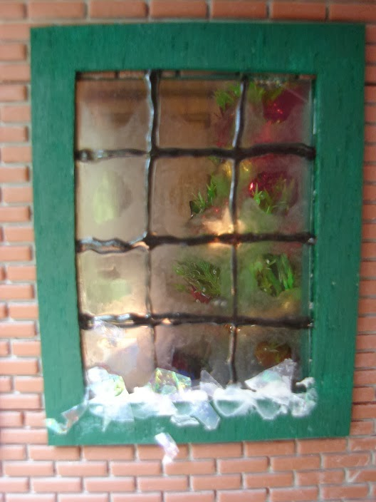 Above The Bakery Is An Apartment The Front Room Of Which Has Been Decorated For Christmas With The Windows Frosted Using More Glass Paint Its Hard To